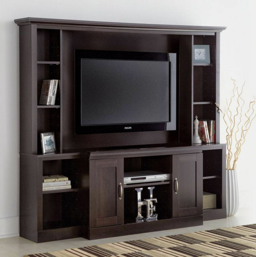 Large Entertainment Center Tv Stand Media Console Furniture Wood Cabinet Theater Ebay