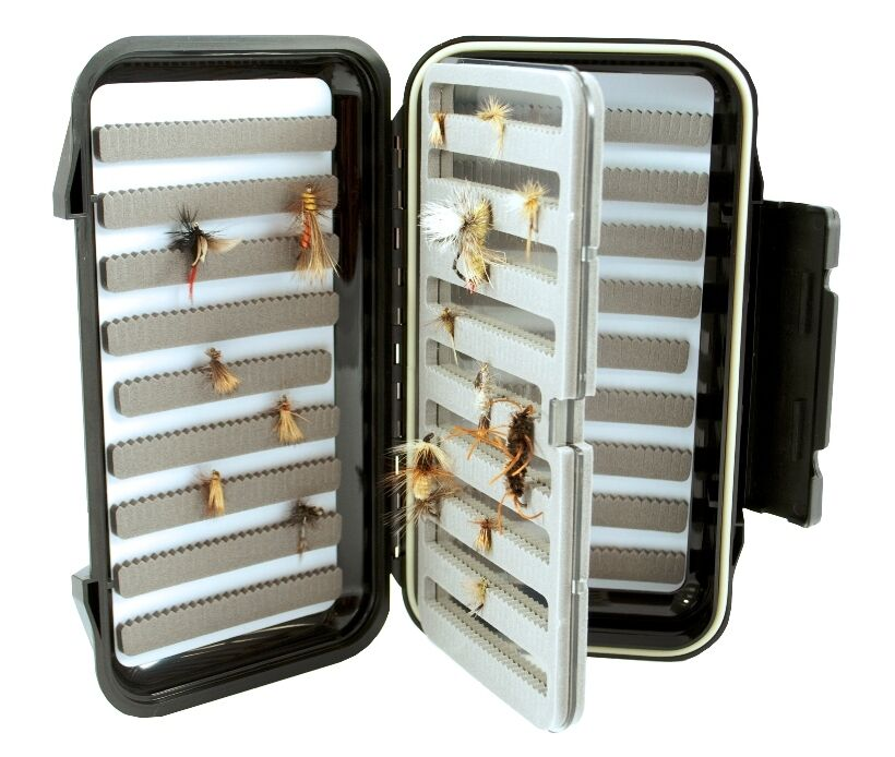 Fly box large fishing go to fly box with swing leaf for Fly fishing box