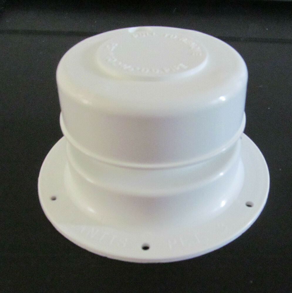 White plastic plumbing sewer vent cap quot to od pipe