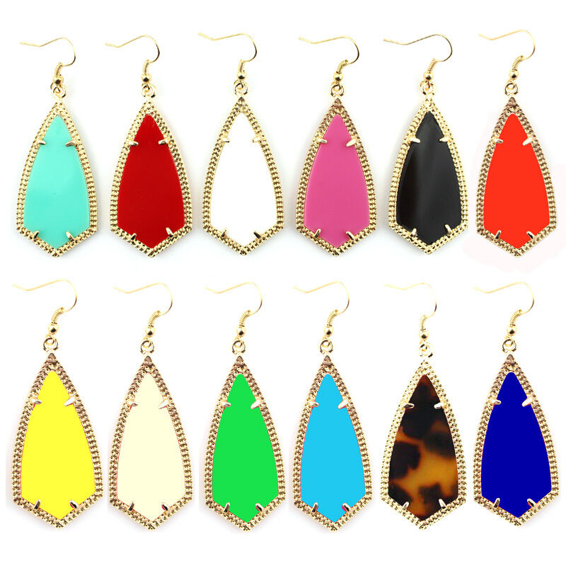 Gold Kite Inspired Design Gold Frame Rhombus Earrings Boutique Jewelry Wholesale Ebay
