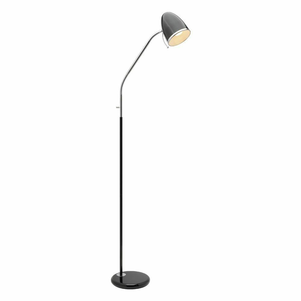 Liteworks clarke floor lamp black ebay for Best floor lamp for dark office