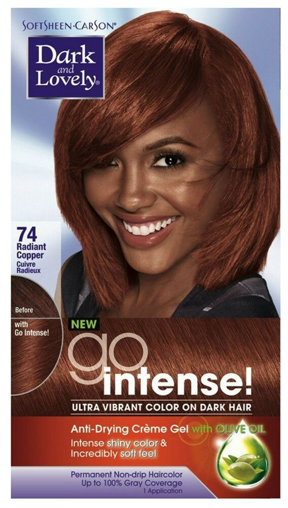 Dark And Lovely Go Intense Hair Color No74 Radiant Cooper 1 Ea