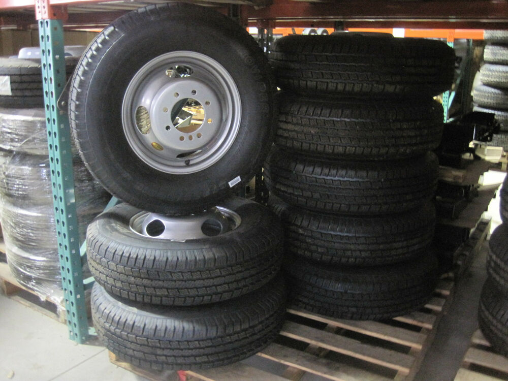 New Trailer 16 Quot Radial Provider Tires Dually Silver 8 Lug