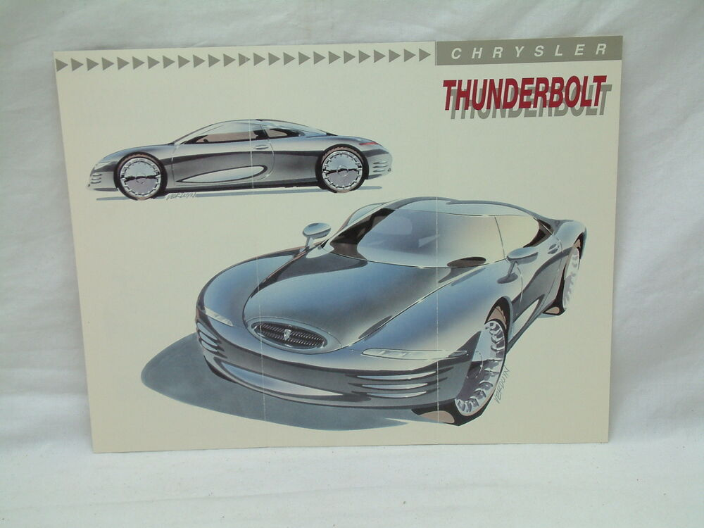 1993 Chrysler Thunderbolt Experimental Concept Brochure Detroit