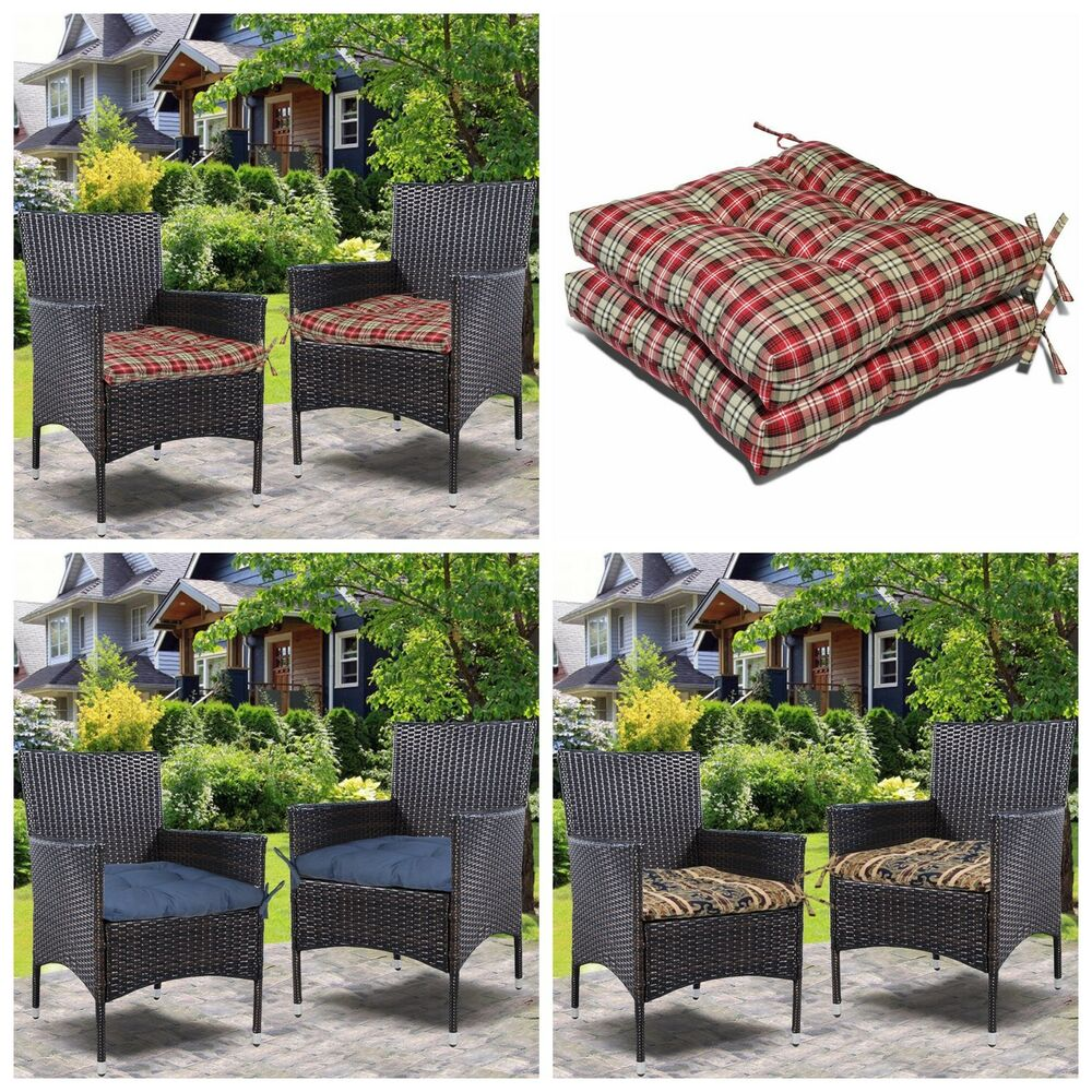 Outdoor Patio Furniture Pads: Set Of 2(2Pc) Office Dining Room Garden Chair Seat Cushion