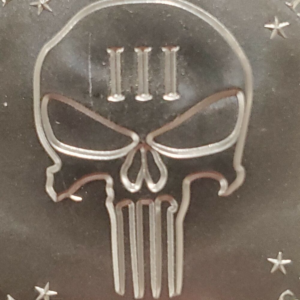 2016 1 10th Oz 999 Silver Punisher Coin End Tyranny