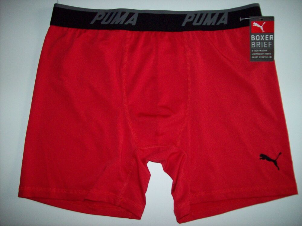 puma underwear mens one pair sport lightweight boxer brief select s m l xl nwt ebay. Black Bedroom Furniture Sets. Home Design Ideas