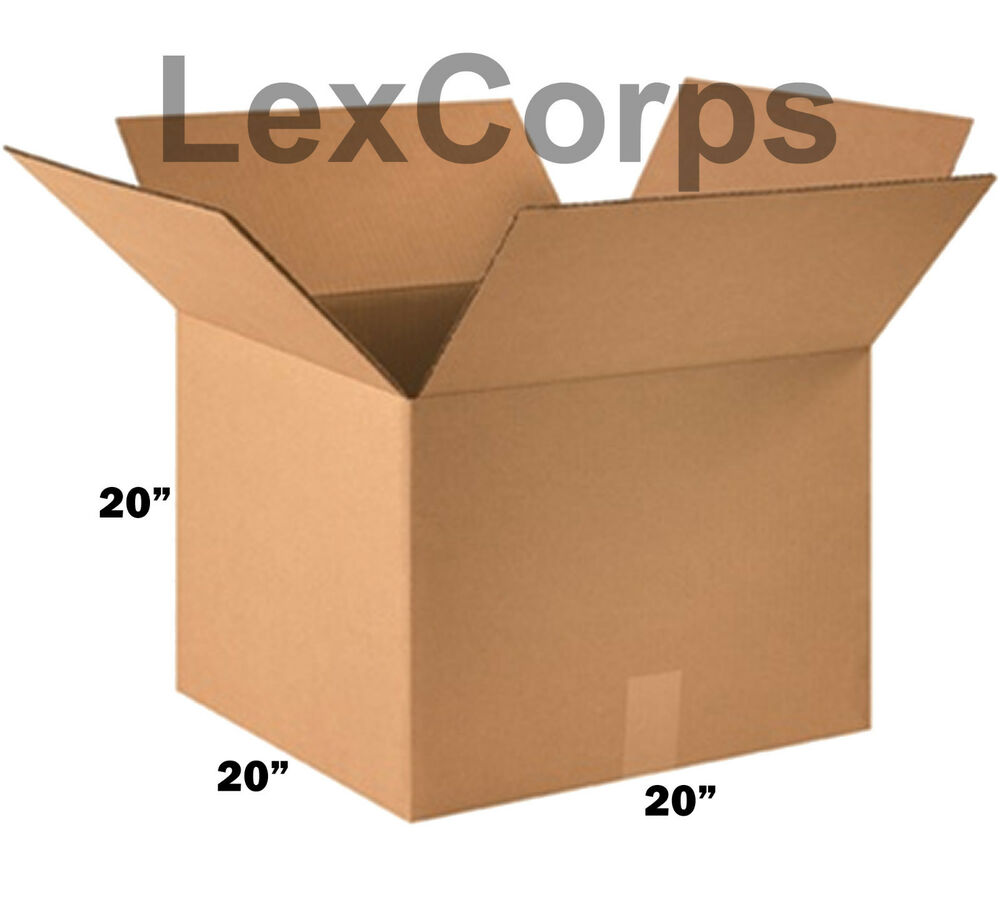 shipping boxes 10 pack 20x20x20 mailing moving box. Black Bedroom Furniture Sets. Home Design Ideas