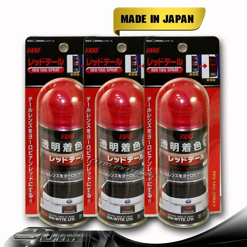3x vans tail light red tint lens taillight tinting painter paint spray. Black Bedroom Furniture Sets. Home Design Ideas