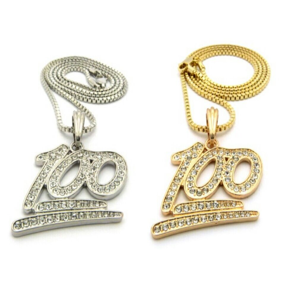 iced out gold silver 100 instagram emoji mini chain