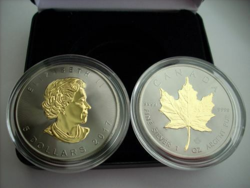 2015 Canadian Maple Leaf Blackout 1 Oz 999 Silver Coin