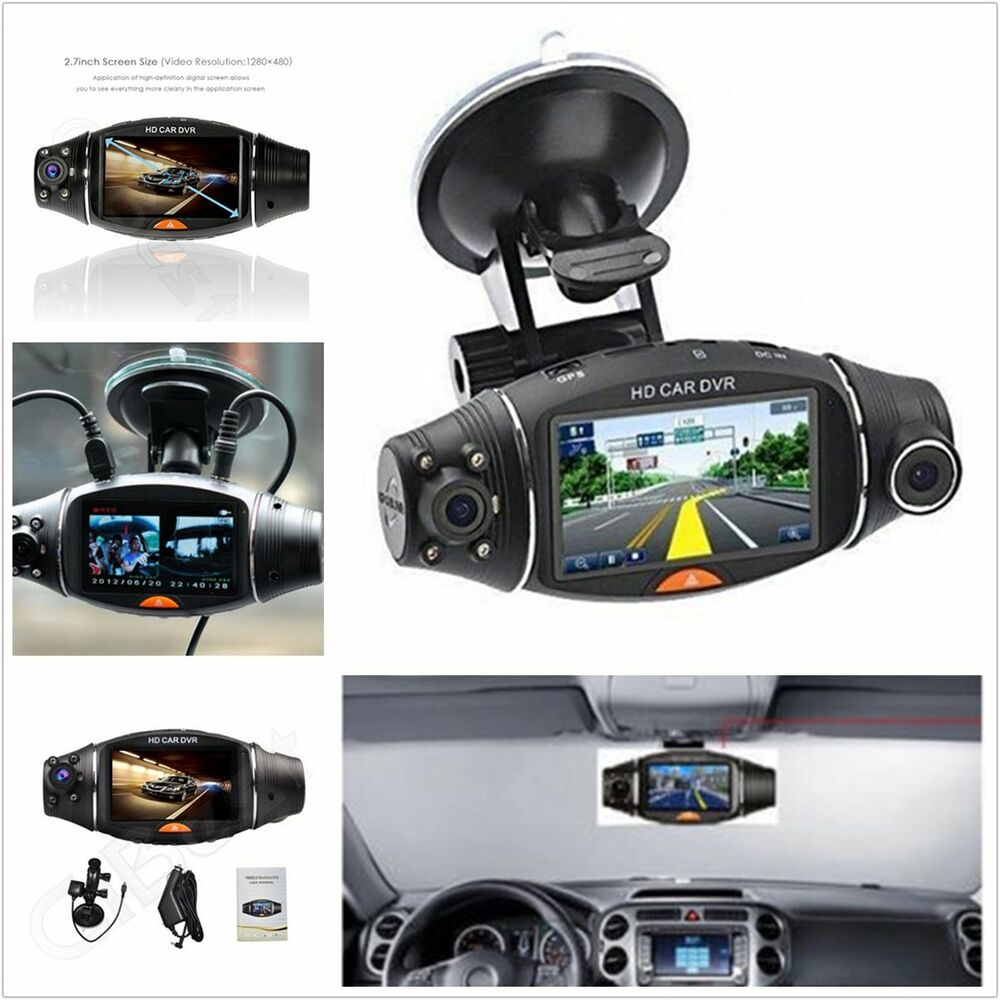 dual lens hd 2 7 39 39 camera car vehicle dvr cam dash video. Black Bedroom Furniture Sets. Home Design Ideas