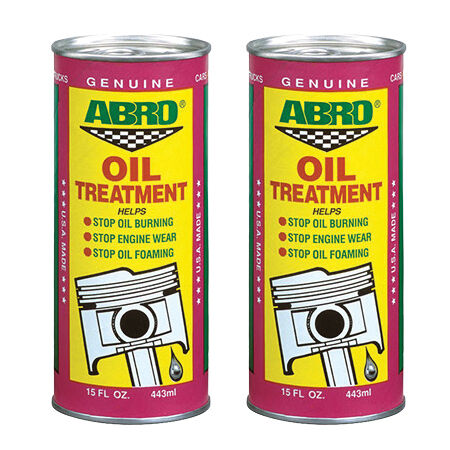 2 x abro car engine oil treatment additive petrol diesel for Does motor oil burn