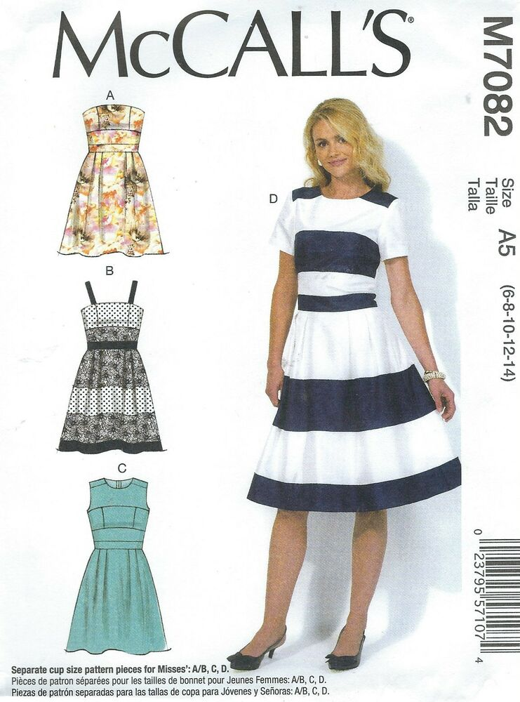 McCall\'s 7082 Misses\' Dresses Sewing Pattern | eBay