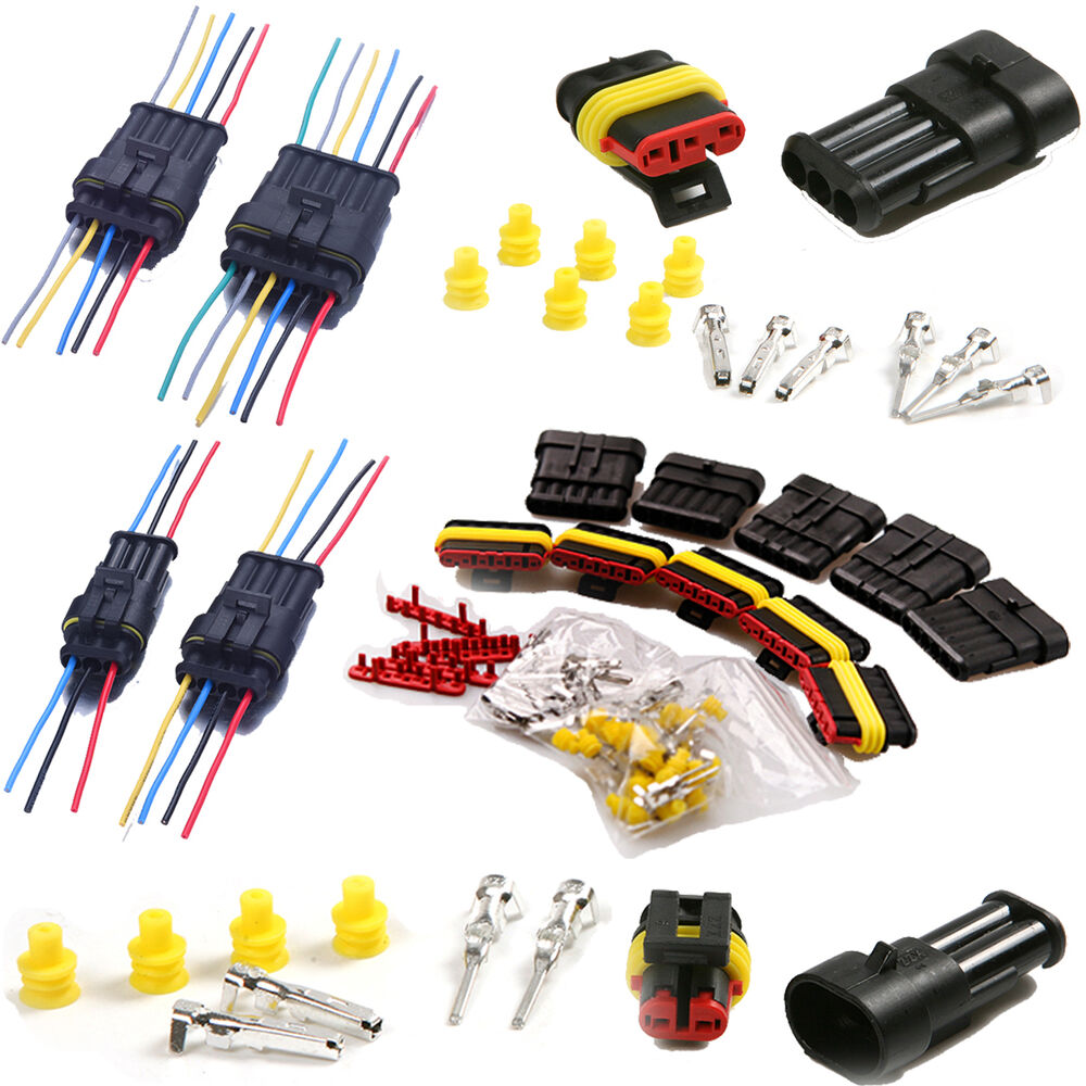 2  3  4  5  6 Pin Electrical Connector Plug Car Wire Male