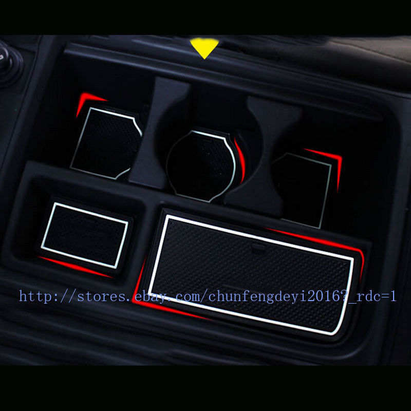 Non Slip Door Mats Pads Gate Slot Mat Cup Holder For Honda