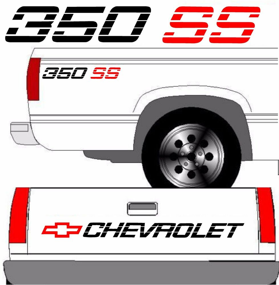 Chevrolet Ss Tailgate Truck Lettering 2 350 Ss Vehicle
