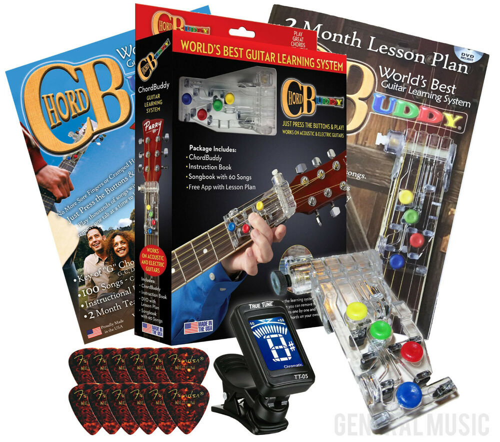 chord buddy guitar learning system teaching practrice aid lessons tuner picks ebay. Black Bedroom Furniture Sets. Home Design Ideas