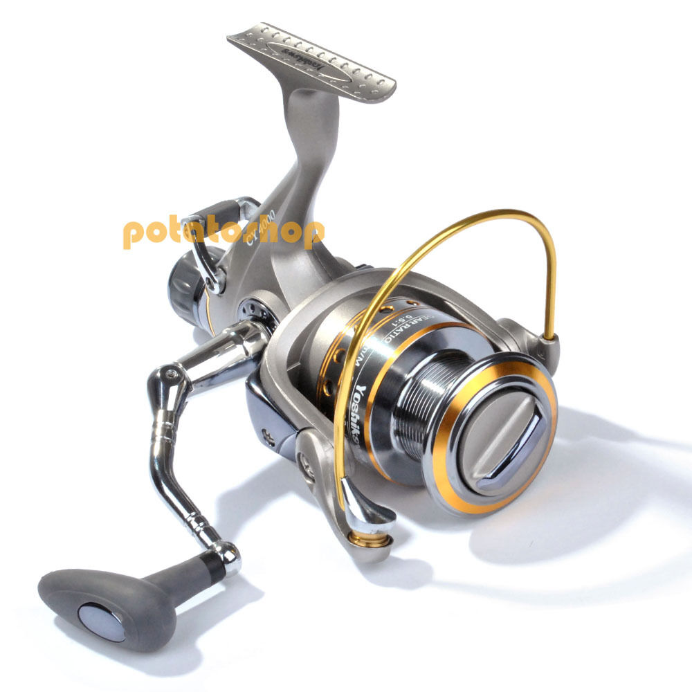 Yoshikawa 11 ball bearing bait feeder spinning reel high for Fishing reel bearings