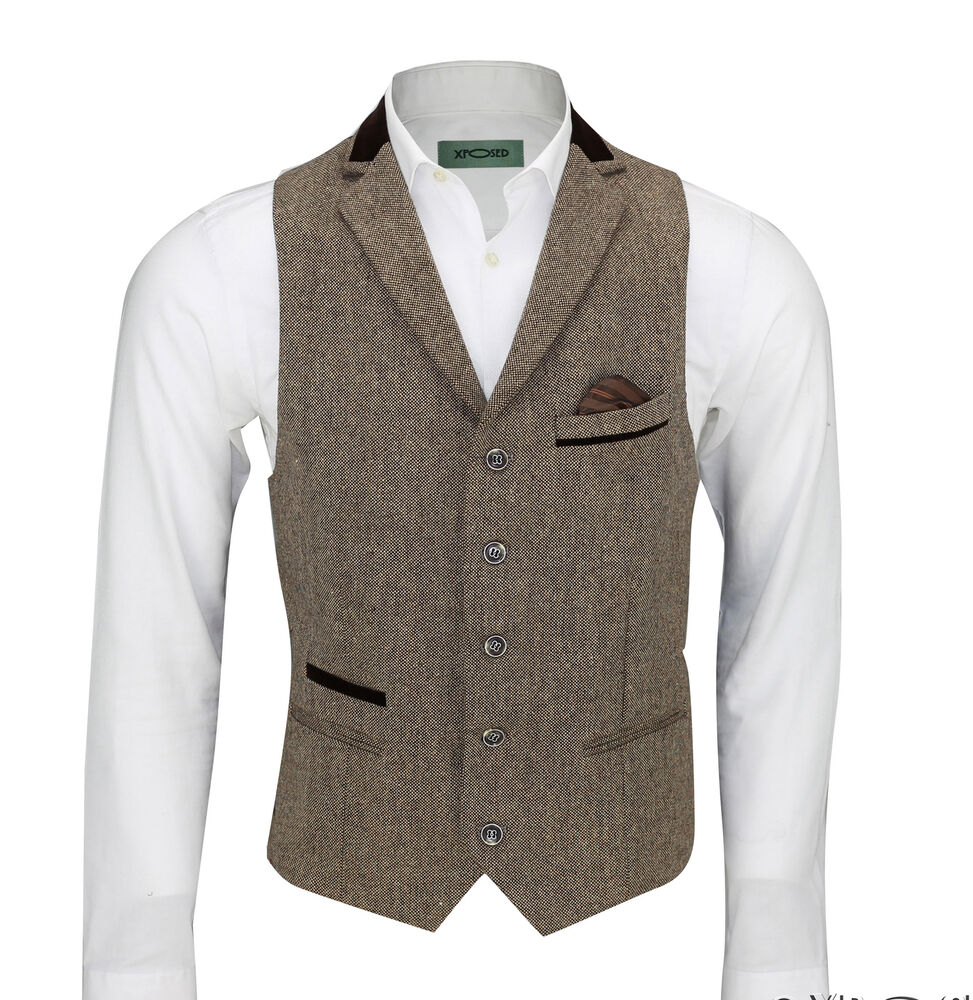 CCXO Mens Single Breasted 4 Buttons Sleeveless Formal Business Wedding Waistcoat Vest by CCXO Currently unavailable.