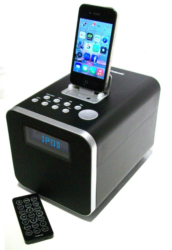 alarm clock fm radio remote control docking station for iphone ipod ipad ebay. Black Bedroom Furniture Sets. Home Design Ideas