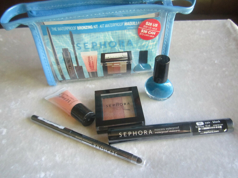 Sephora Waterproof Bronzing Kit Makeup Bag New Make