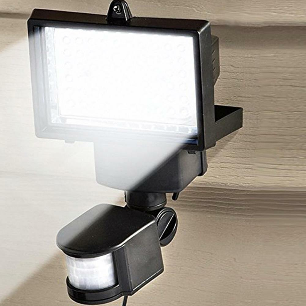 Outdoor Security Lights With Sensor Instructions: 60 LED Solar Powered Outdoor Garden Motion Sensor Security