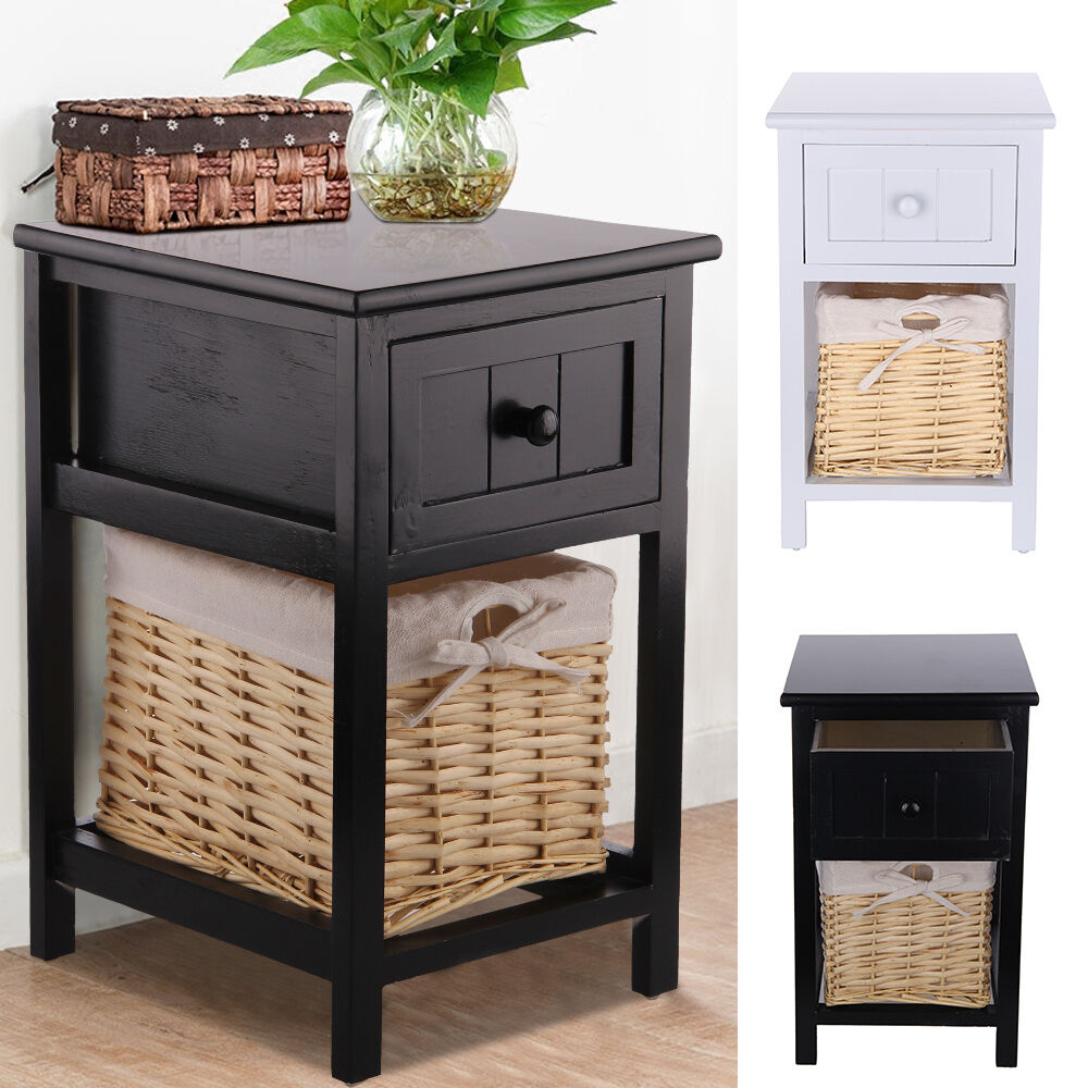 2x table de chevet table de nuit commode armoire chambre. Black Bedroom Furniture Sets. Home Design Ideas