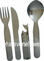 MILITARY KFS KNIFE FORK SPOON CUTLERY SET CAMPING bottle can opener camp army