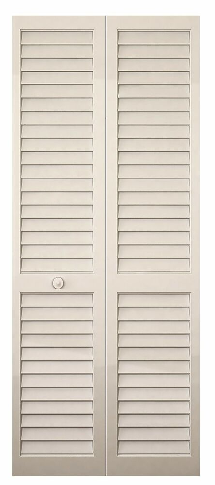 Closet Door Bi Fold Louver Louver Solid Wood Primed White