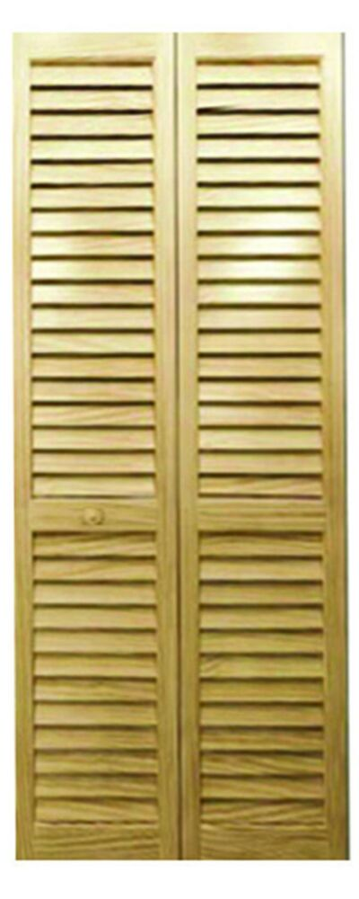 Closet Door Bi Fold Louver Louver Solid Wood Unfinished