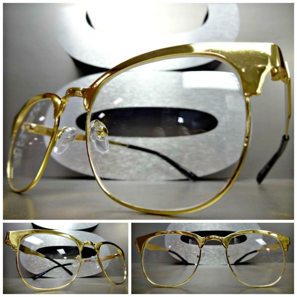 Glasses Frames Vintage Style : Men or Women VINTAGE RETRO Style Clear Lens EYE GLASSES ...