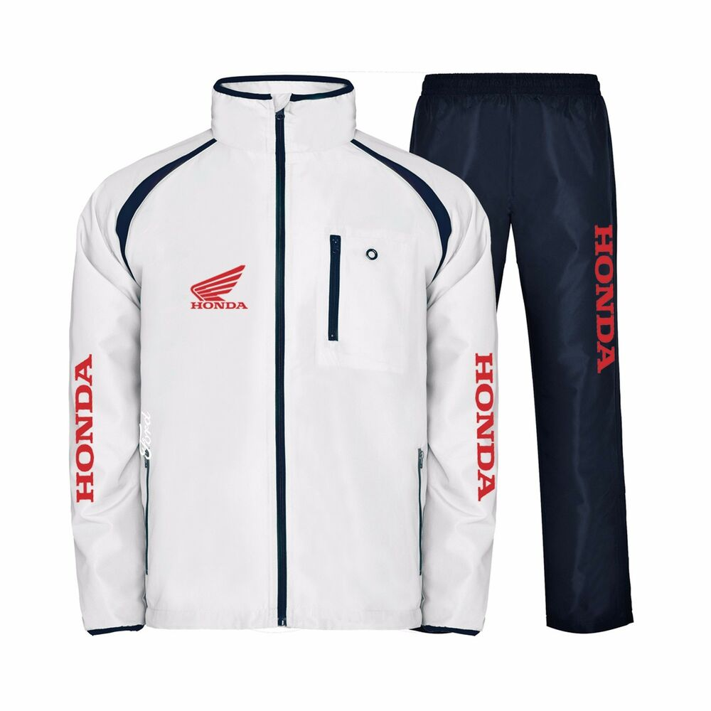 Coated polyester roly tracksuit honda ebay for Mercedes benz tracksuit