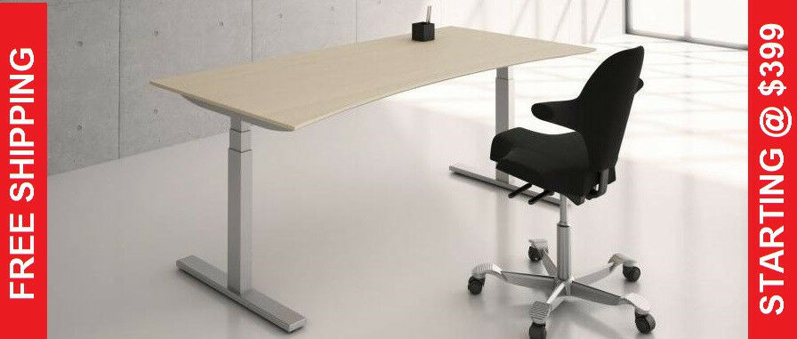 Standing Desk Height Adjustable Table Sit Stand Ikea Top