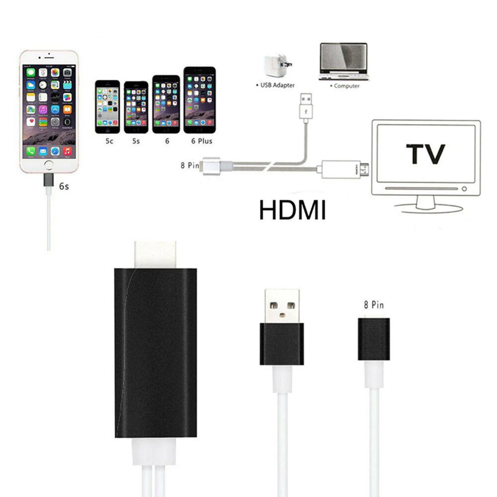 iphone 6 to hdmi micro usb to hdmi adapter 1080p mhl hdtv cable for iphone 2714