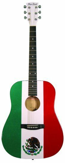 new main street mamf spruce top mexican flag mexico acoustic guitar full size 809312000988 ebay. Black Bedroom Furniture Sets. Home Design Ideas