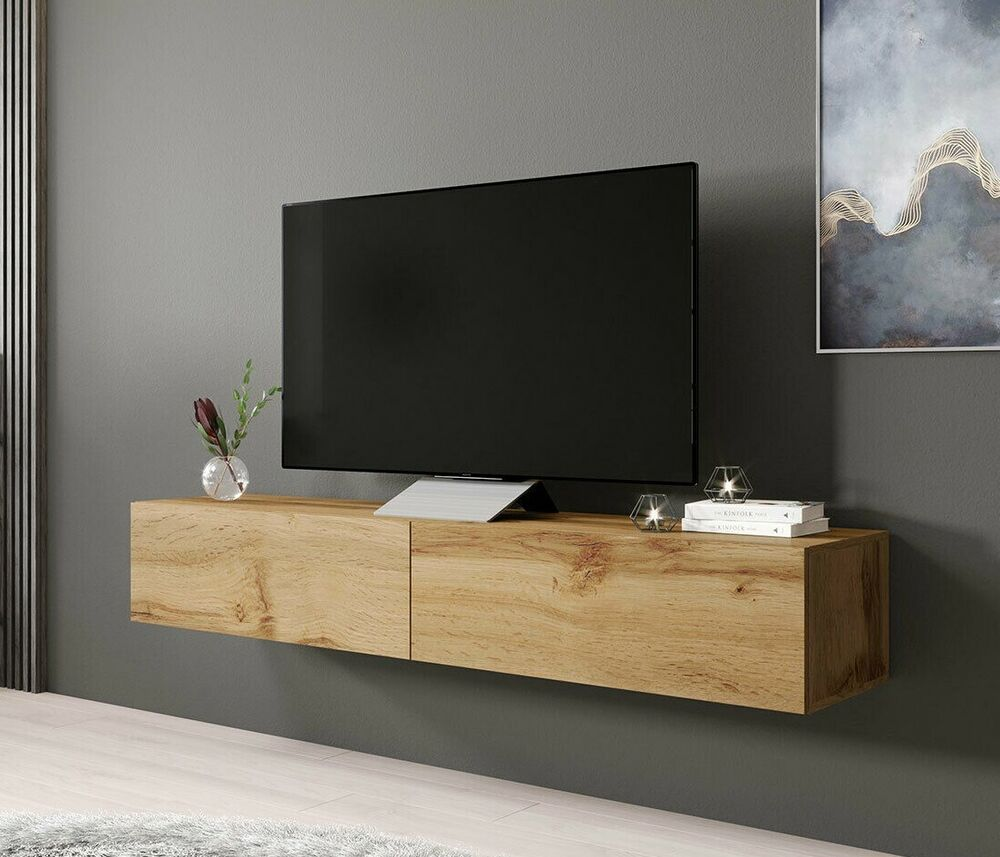 tv lowboard bruno 180 sideboard h ngeschran h ngend wei schwarz h ngend neu ebay. Black Bedroom Furniture Sets. Home Design Ideas