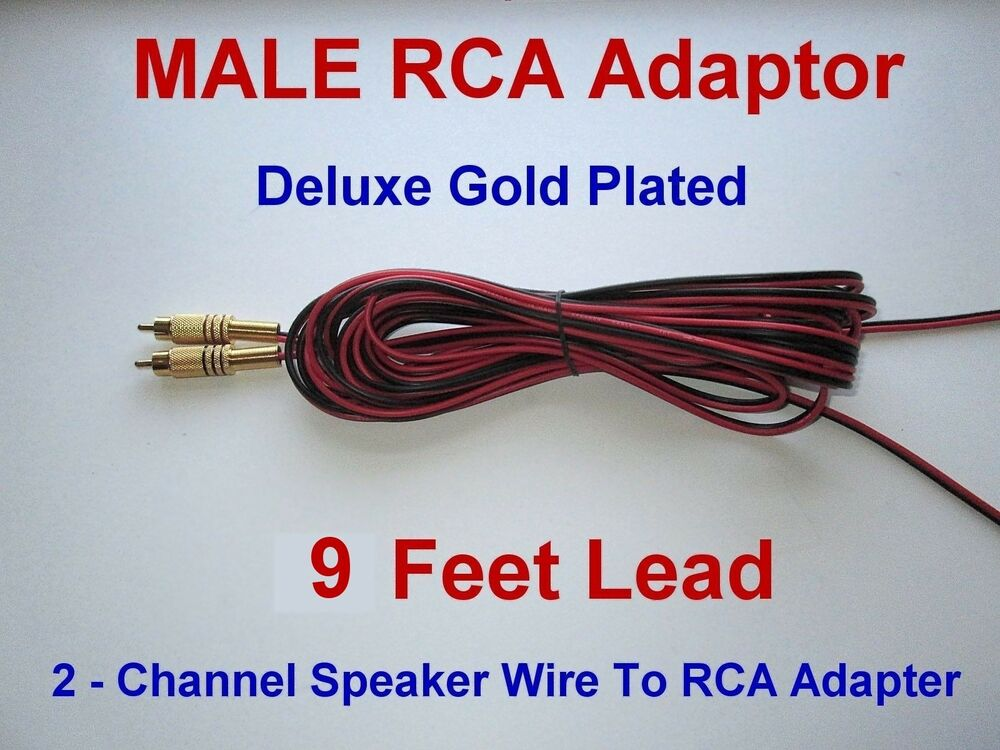 Rca To Speaker Wire Adapter : Channel speaker wire rca adapter amp receiver powered
