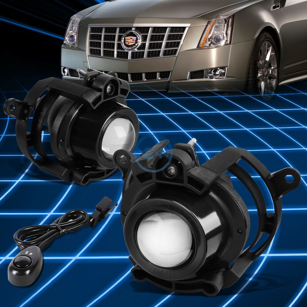 Chrome Clear Projector Driving Fog Light Lamp Switch For