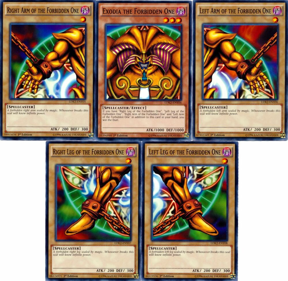 Yugioh Ygo Common Exodia The Forbidden One Set All 5