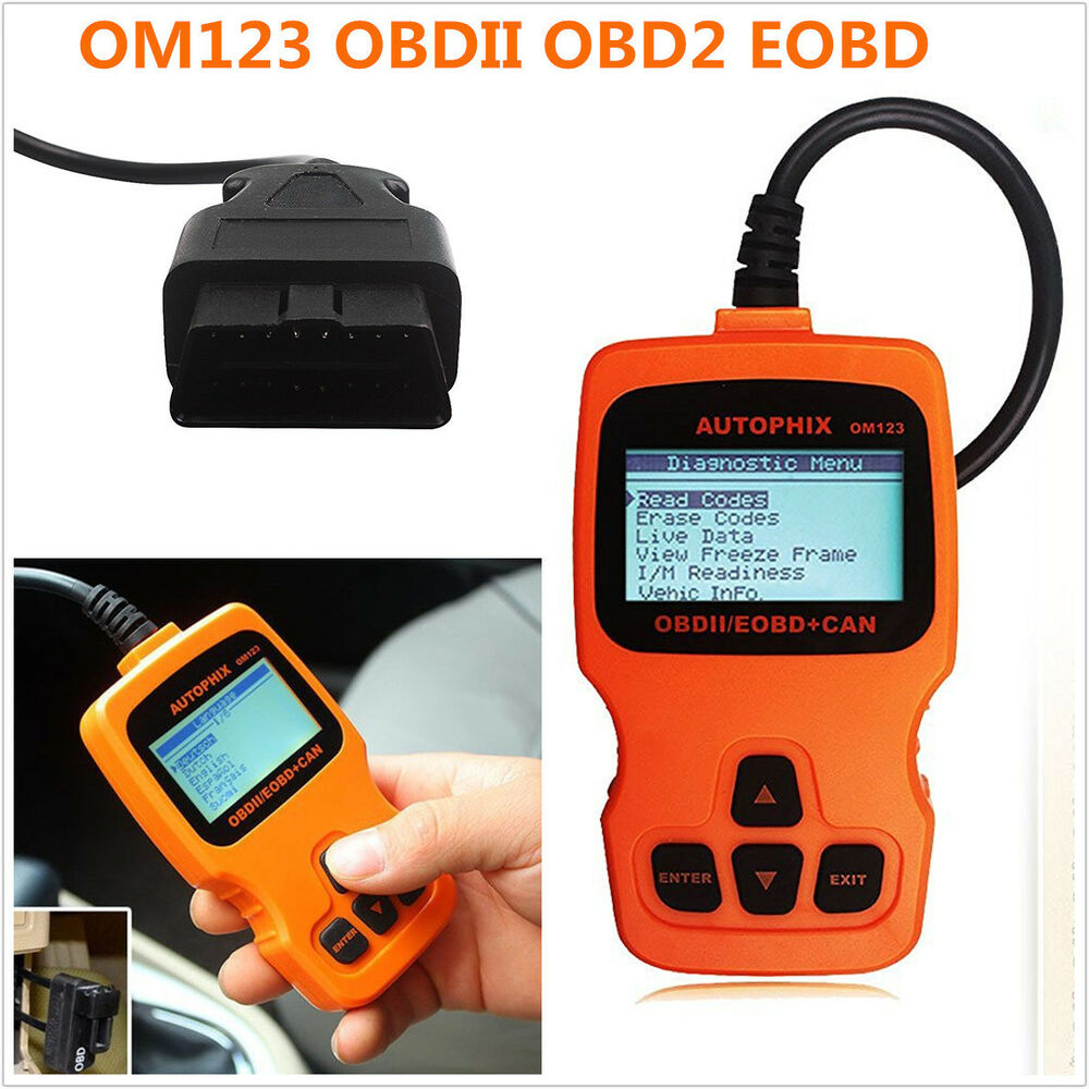 OM123 OBDII OBD2 EOBD Car Vehicle Code Reader Scanner Auto