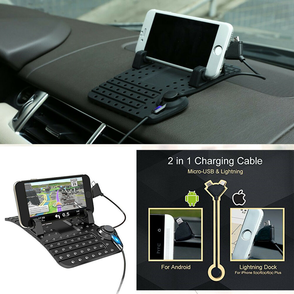 Car dashboard mount holder usb charger cradle for iphone for Ebay motors app for android
