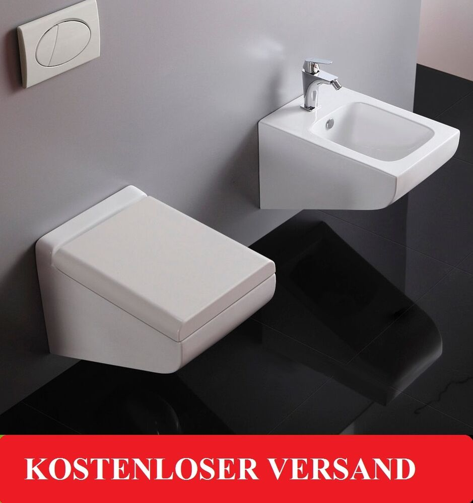wandh ngend h nge toilette keramik weiss wc fabio weiss auch set ebay. Black Bedroom Furniture Sets. Home Design Ideas