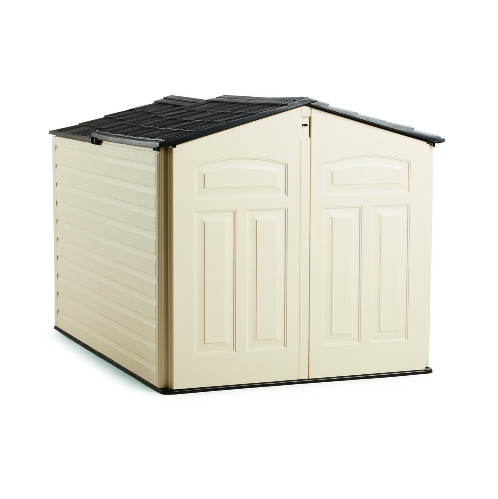 Product Features using Rubbermaid wall anchors. metal or wood sheds, Inside.