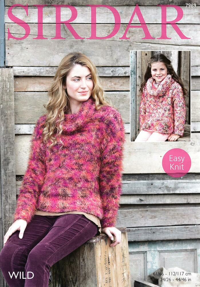 Sirdar Ladies Knitting Patterns : Sirdar 7969 Knitting Pattern Girls Womens Easy Knit Sweater in Sirdar Wild ...