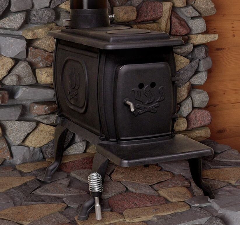 Wood Burning Stove House Heater Log 900 Sq Ft Cabinet