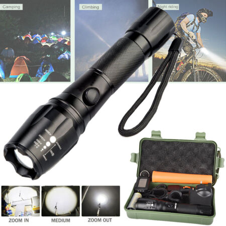 img-6000LM CREE T6 LED Torch Zoomable Military Flashlight Lamp FREE 18650 & Charger