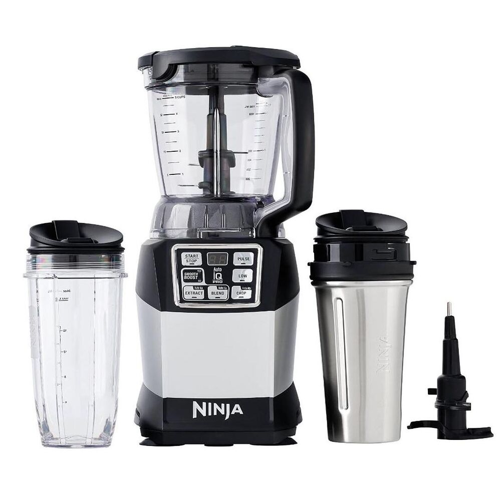 nutri ninja auto iq compact blender w food processor bowl. Black Bedroom Furniture Sets. Home Design Ideas