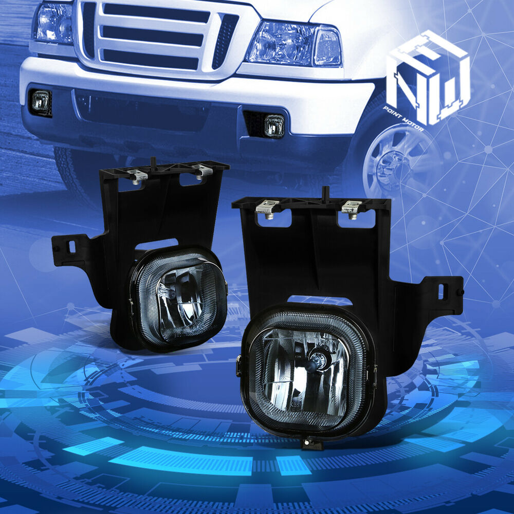 Details About Smoke Tinted Front Driving Fog Light Lamp Pair For 2006 2007 Ford Ranger Pickup