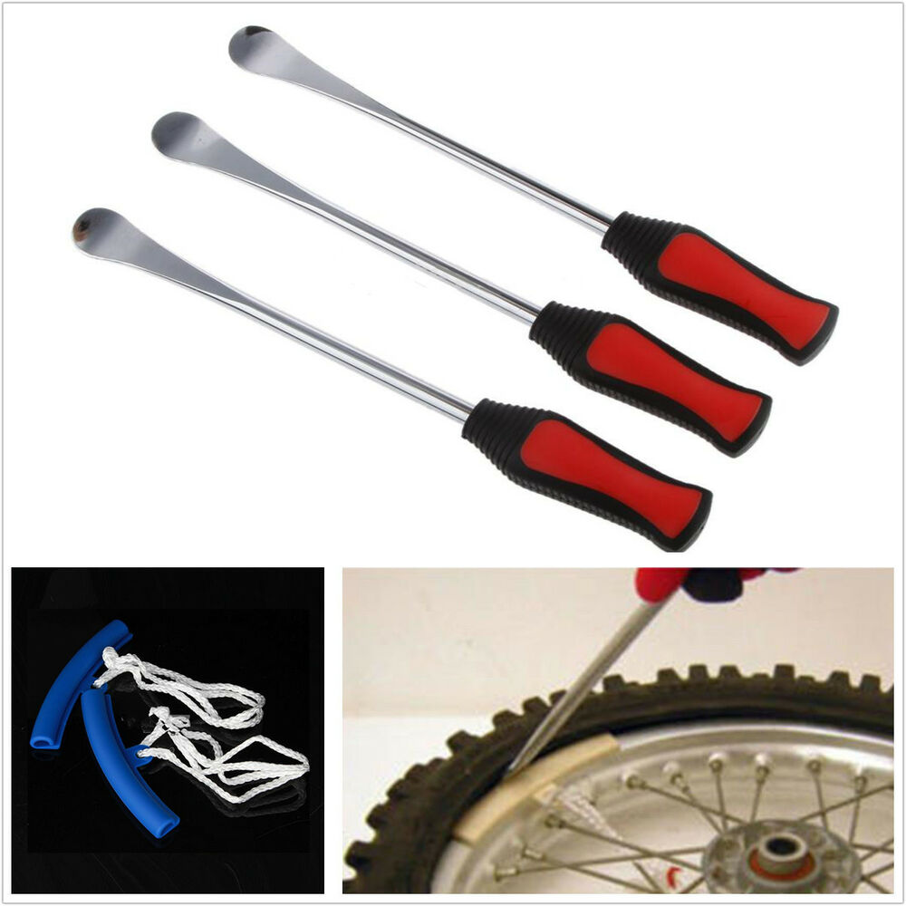 Tire Changing Hand Tools >> 3x Spoon Motorcycle Tire Tyre Iron Changing+2 Rim Protector Anti Scratches Tool | eBay
